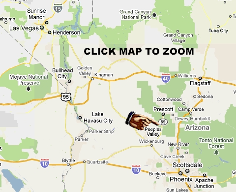 Map Of Highway 89 In Arizona.T Bird Cafe Maps And Directions